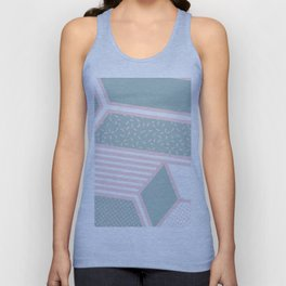 Modern Memphis Illustration - Gemetrical  Retro Art in Pink and Mint -  Mix & Match With Simplicity Unisex Tank Top