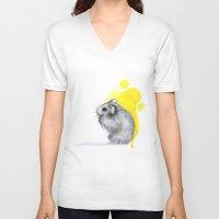 hamster V-neck T-shirts featuring hamster by Konstantina Louka