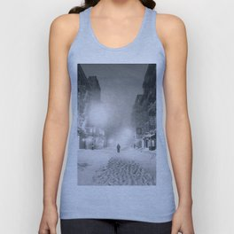 Alone in a Blizzard - New York City Unisex Tank Top