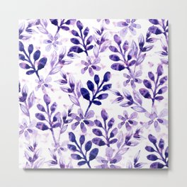 Watercolor Floral VIV Metal Print
