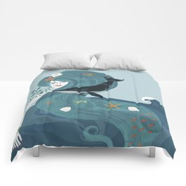 Aquatic Life of a Seaflower Comforters