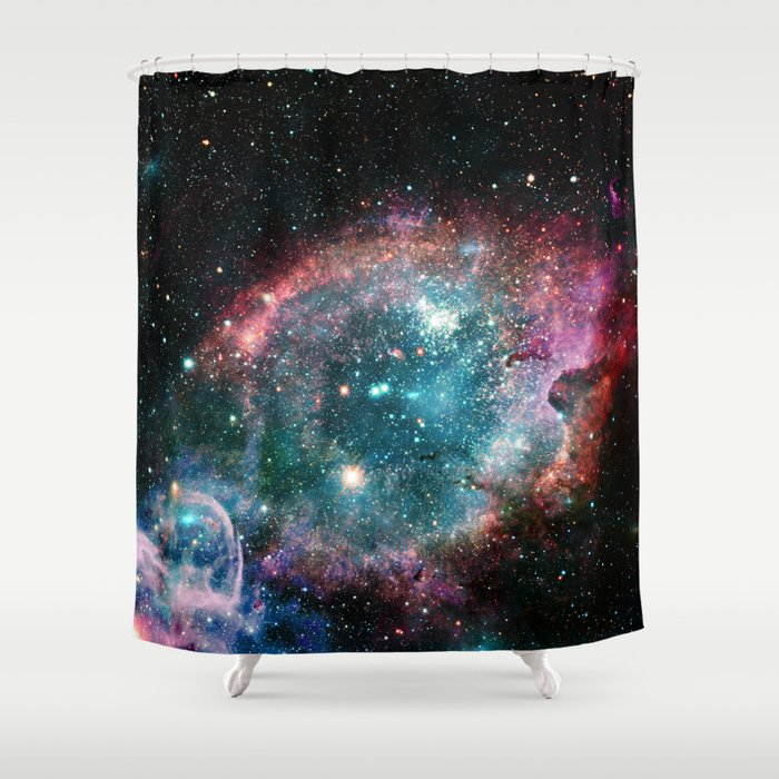 Galaxy and nebula Shower Curtain