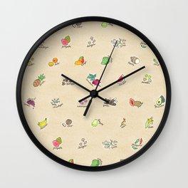 Las Frutas y Verduras de Latinoamerica Wall Clock
