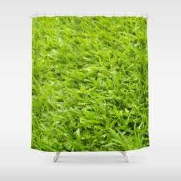 A million leaves of grass. Green is Everything Shower Curtain
