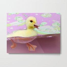 Space Bath Metal Print