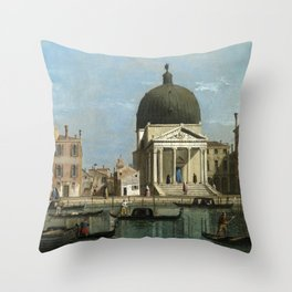 Venice: S. Simeone Piccolo by Follower of Canaletto Throw Pillow