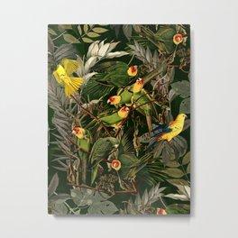 Floral and Birds XXXVI Metal Print