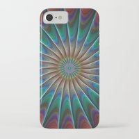 fractal iPhone & iPod Cases featuring Peacock fractal by David Zydd
