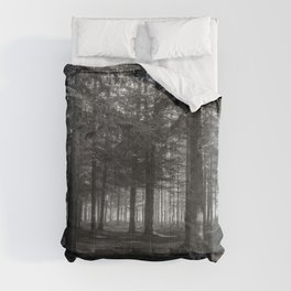 Black and white forest - North Kessock, Highlands, Scotland Comforters