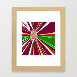 A burst of hope Framed Art Print