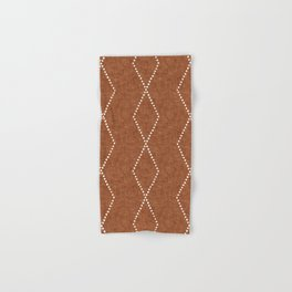 geometric diamonds - ginger Hand & Bath Towel