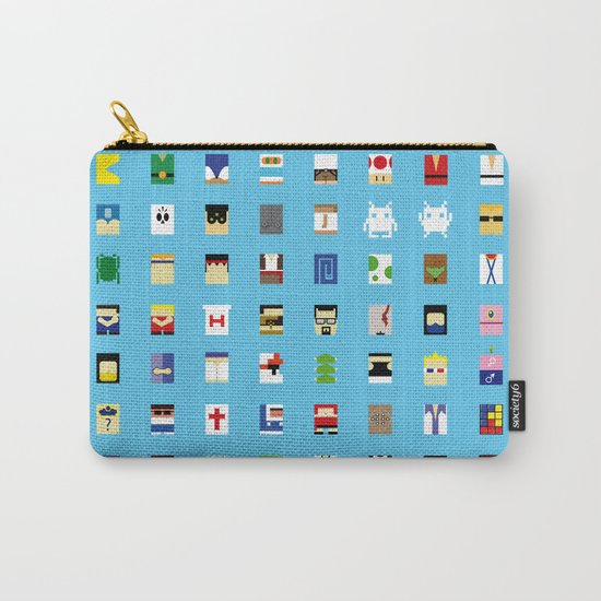 Minimalism beloved Videogame Characters Carry-All Pouch