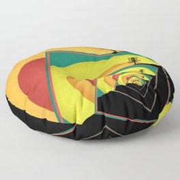 Spinning Disc Golf Baskets 3 Floor Pillow