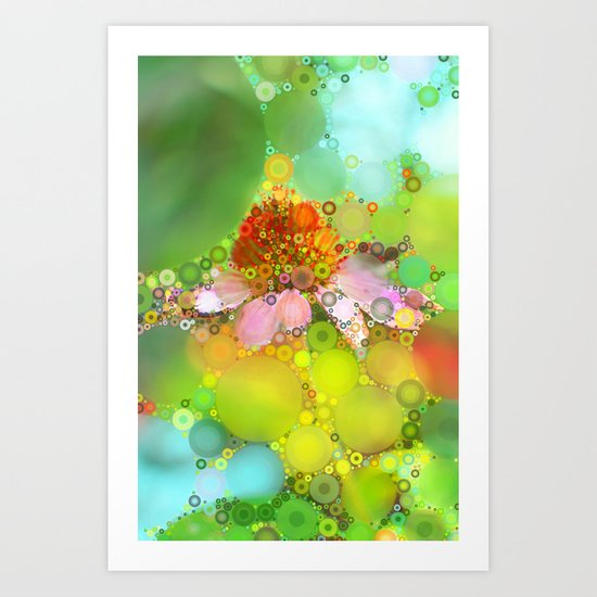 Pink Flower of Summer Art Print