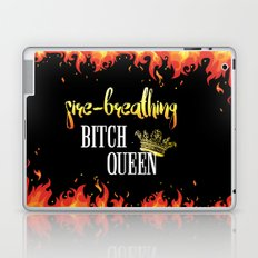 Fire Breathing Bitch Queen Design Laptop & iPad Skin