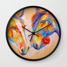 Love horses Wall Clock