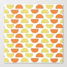 Orange Slices Pattern Canvas Print