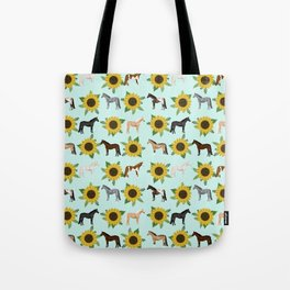 Horse, sunflowers, sunflowers, flowers, flower, mint, horses, cowgirl, texas Tote Bag