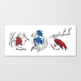 3 Creatures Canvas Print