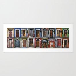 Italian doors Art Print