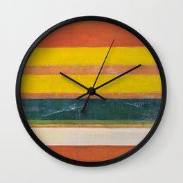 Stripe Painting #6 (The Beach) Wall Clock