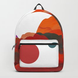 """""""Coral Sci-Fi Mountains"""" Backpack"""