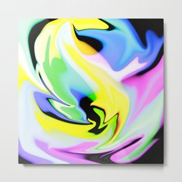 Colour Burst Metal Print