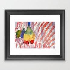 Fruit and Wine Framed Art Print