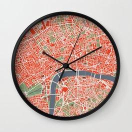 London city map classic Wall Clock