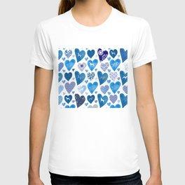 BLUE HEARTS WEIMARANERS T-shirt