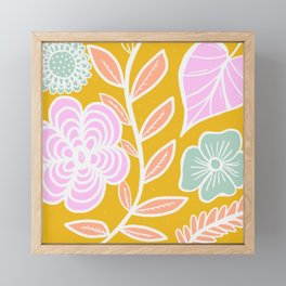 spring florals Framed Mini Art Print