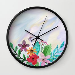 Flower bouquet watercolor #7 Wall Clock