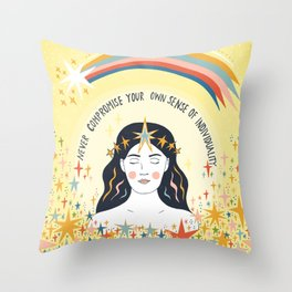 Never compromise Throw Pillow