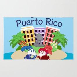 Ernest & Coraline | I love Puerto Rico Rug