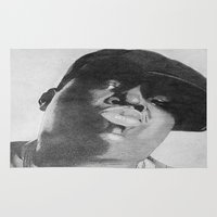 notorious Area & Throw Rugs featuring Notorious B.I.G by tyler Guill