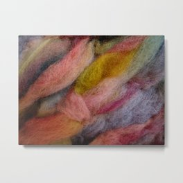 Mixed pink wool Metal Print
