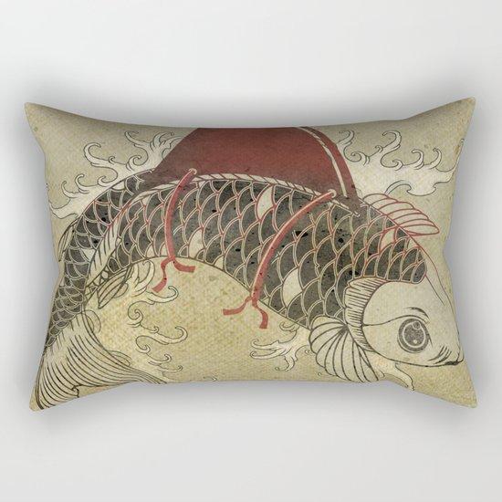 koi Shark Fin 03 Rectangular Pillow