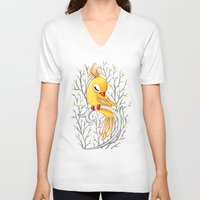freeminds V-neck T-shirts featuring Magic Canary by Freeminds