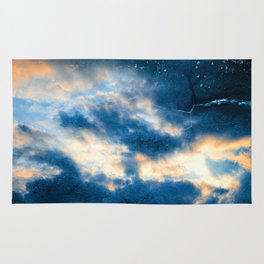 Celestial Grunge Clouds Rug