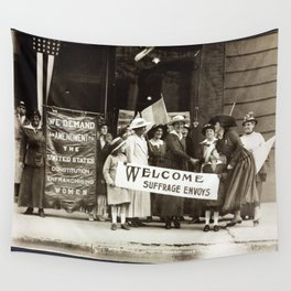 Suffrage Envoy Photograph (1915) Wall Tapestry