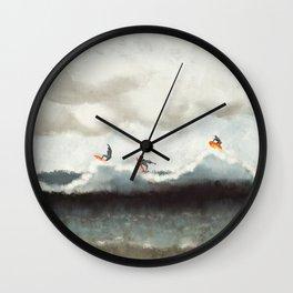 Ocean surfer abstract Wall Clock