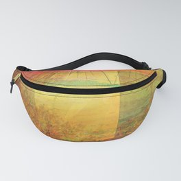 Blossoms Trees Red Yellow Abstract Fanny Pack