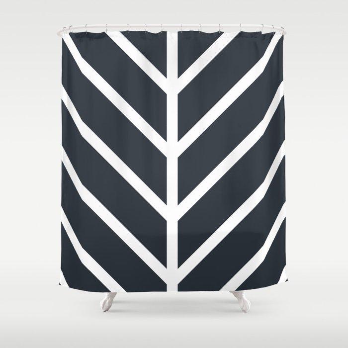 Leaf Black Shower Curtain