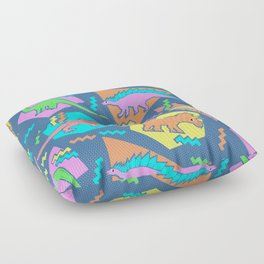 Nineties Dinosaur Pattern Floor Pillow