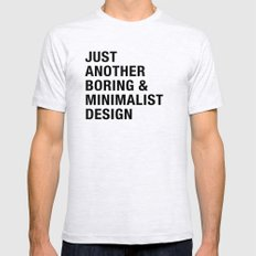 Boring and Minimalist Ash Grey Mens Fitted Tee MEDIUM
