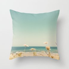 Water and Lace Throw Pillow