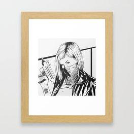 Bad Girl Gigi Framed Art Print