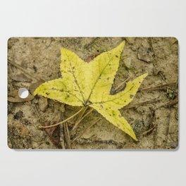 The Yellow Leaf Cutting Board