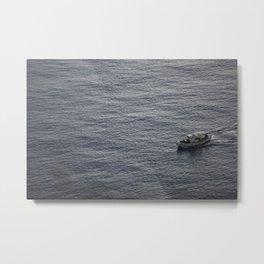 Sea and a boat Metal Print