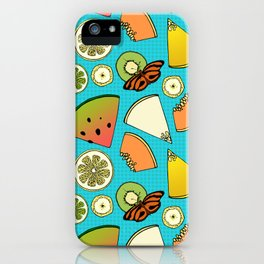 Tropical Fruit Pattern iPhone Case